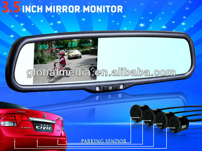 car rearview mirror with parking assist