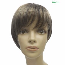"Short Straight 9""L HAZELNUT BROWN Promotional High Quality Soft touching Natural Bob cut style mono wig"