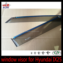 Window visor for Hyundai IX25 with chrome car accessories for ix25 ix35