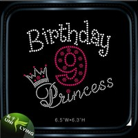 Birthday Princess Rhinestone Wholesale Iron On Transfer
