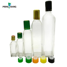 60ml 100ml 250ml 500ml 750ml Recycled Square Clear Marasca Glass Olive Oil Bottles for sale
