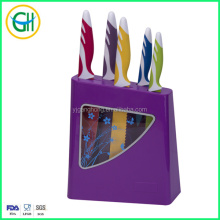 6pcs non-stick global knives set with pp block