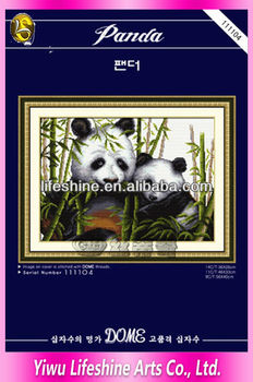 chinese embroidery kits pandas family cross stitchs craft