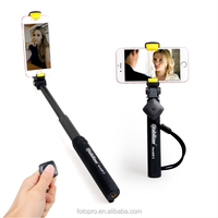 High quality wholesale directly mini monopod for mobile phone bluetooth selfie stick