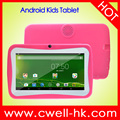 Boxchip Q704 7 Inch 2500mAh Battery Quad Core Lovely Multi-Color Free Silicone Case Android Educational Kids Tablet PC