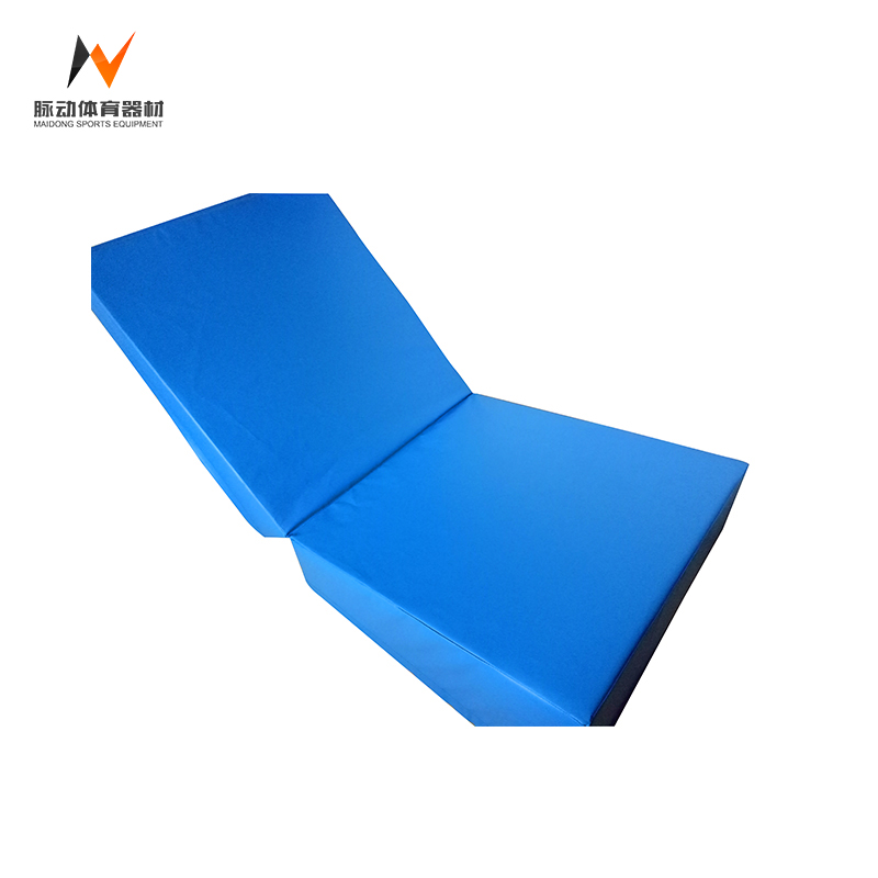 Outdoor kids gymnastics fitness folding cheese inclines tumbling mat for sale