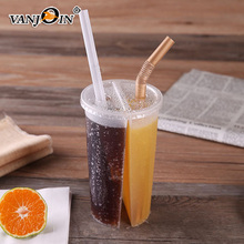 700ml Empty PP Plastic Coffee Twin Split Cup 2 Drinks 1 Cup For Boba Tea