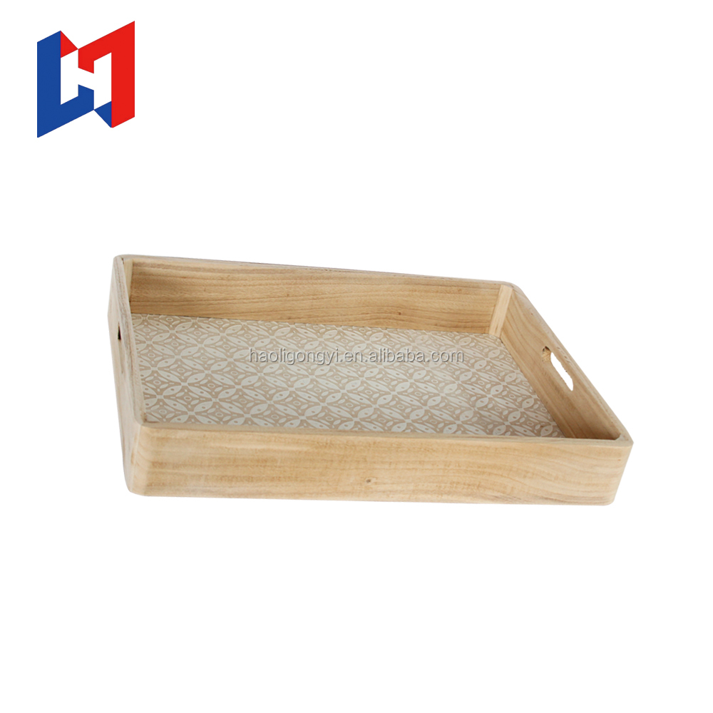 Multiple size custom environmental rectangular wooden tray/Vintage Wooden Serving Tray