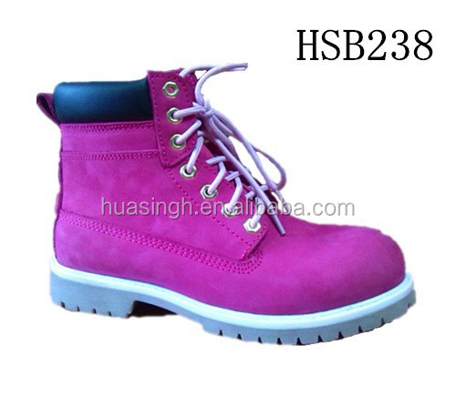 ladies work time protective equipment nubuck leather fashion pink safety boots UK popular