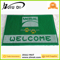 Factory promotion stamp for home welcome non-slip pvc coil mat