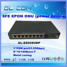 8FE Reverse PoE ONU GEPON MDU for FTTB/FTTC Solution