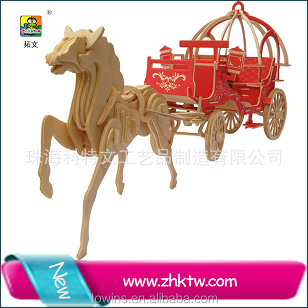 Wedding horse carriage 3d puzzle toy