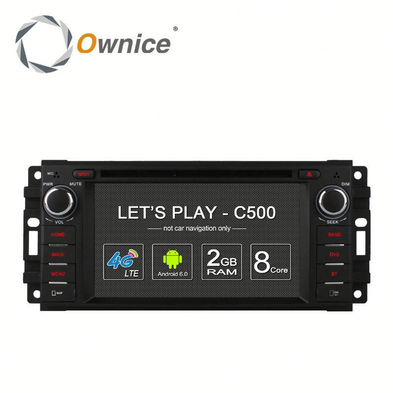 Ownice C500 Quad core android 6.0 car radio for Chrysler 300C Cirrus 2007 built in RDS multimedia USB BT Wifi