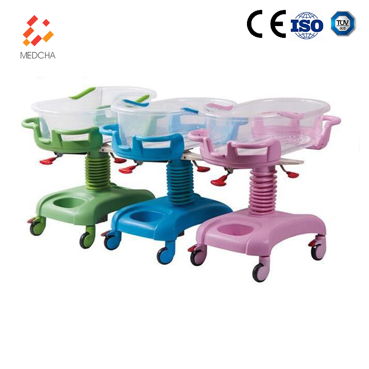 High quality CE ISO AG-CB011B hospital metal frame plastic infant crib