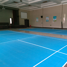 Outdoor Standarded Size Badminton Court Recycled Plastic Sports Flooring