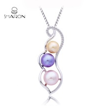Charm Pearl Jewelry Vegetable Series Bean Pod Sterling Silver Pearl Mount <strong>Pendant</strong>