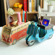 Wholesale DIY handmade decorative fancy pen holder desk organizer set office accessories