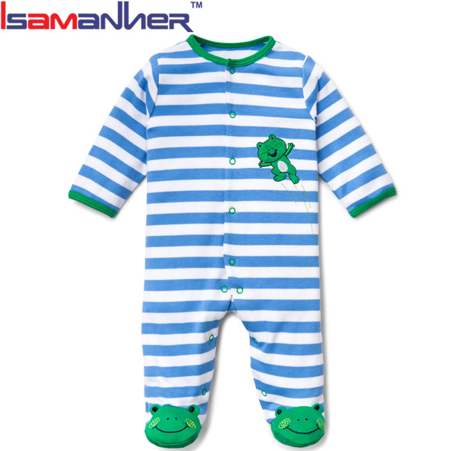 Baby clothes footed infant boy pajamas, boutique baby boy footie