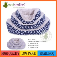 Super soft quality canvas fabric dog bed pet