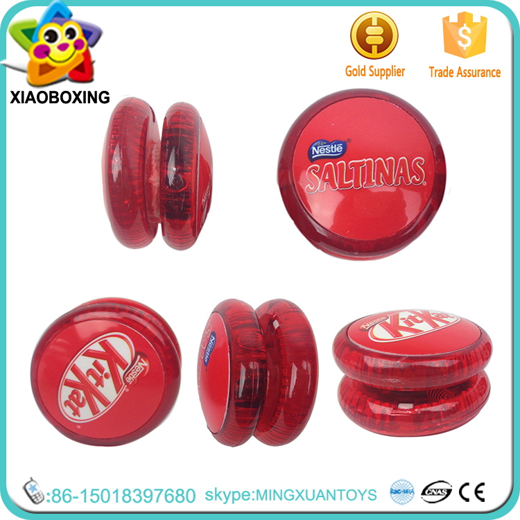 Logo Customized plastic wholesale cheap lighting yoyo with light