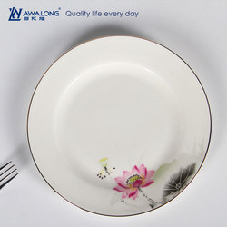 elegance lotus design ceramic plate bone china dish crockery tableware