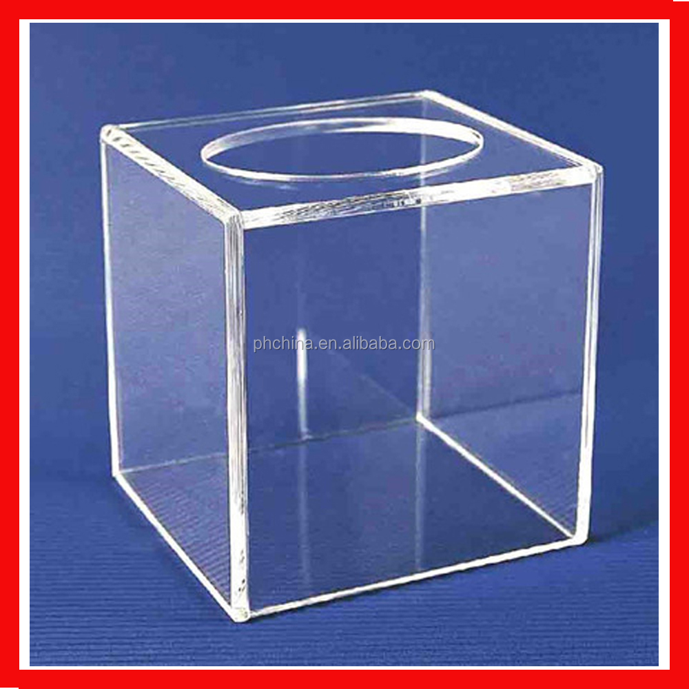 Acrylic Offering Boxes : Clear custom design plastic donation box acrylic small
