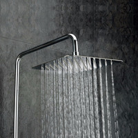 "Factory direct sale 10"" square 304 stainless steel bathroom accessory high pressure water saving rain shower head"
