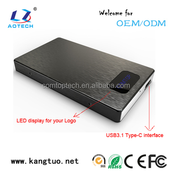 customizable ssd enclosure usb 3.1 adaptor enclosure