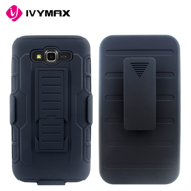 IVYMAX exclusive shockproof waterproof case for android with pc kickstand and holster for galaxy J7