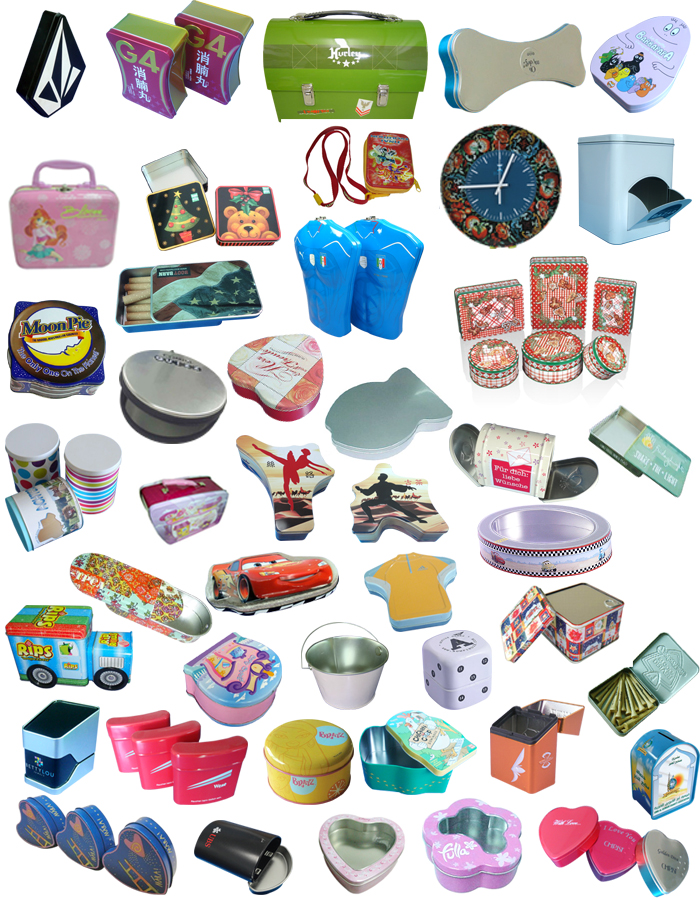 Round metal candy tin box/ tin box