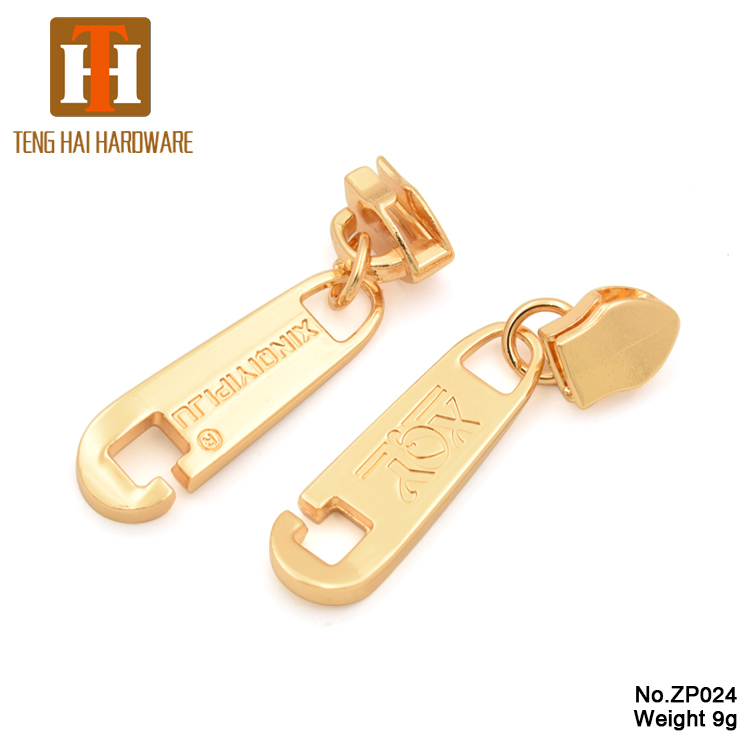 Manufacturer customized zipper slider design logo metal bag zipper puller