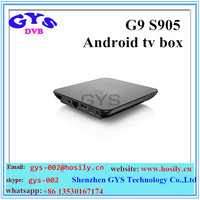 New model G9S Android tv box S905 2gb/16gb android 5.1 supoort 4k smart android tv box
