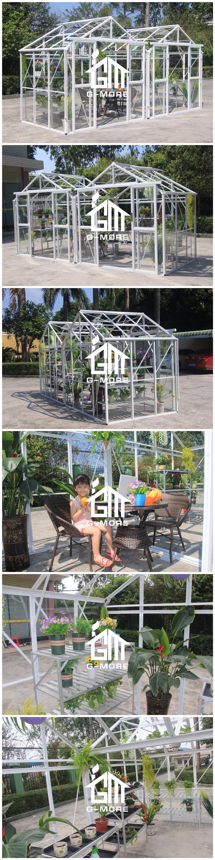Super Strong Easy DIY M Style Glasshouse - 511X195X250CM (L X W X H)