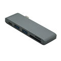 USB 3.0 Portable Type-C 5-in-1 Combo Hub Adapter and Card Reader for MacBook