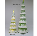Christmas home decoration led light green color glass Christmas tree wholesale