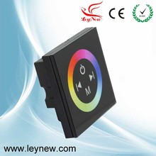 DC12-24V 12A Wall mounted 86*86 LED RGB Touch Panel Full color Controller for 5050 RGB strip