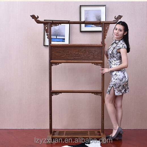 Authentic Old Mahogany Wenge Made Home Furniture Chinese Antique Style Wooden Tower Or Coat Hanger Rack & Stand