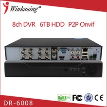 8/16 Channel cctv h 264 dvr firmware DR-6008