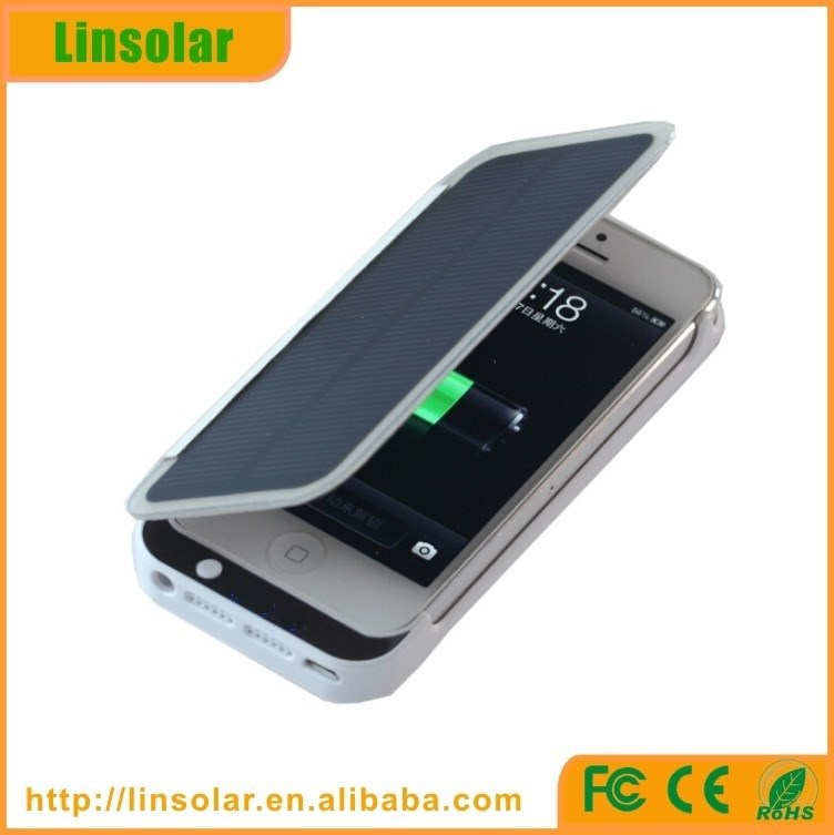 2015 popular solar power cell phone case with battery for iphone 5 5s power charger high quality
