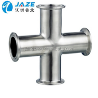 Ss304 Sanitary Stainless Steel Long-Type Clamped Cross