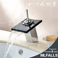 Sanitary wares single handle american faucet,brass chrome type of tap faucet,waterfall glass faucet