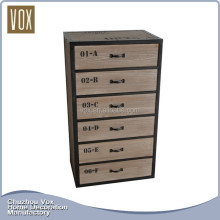Classic design chest of drawers Eco-Friendly Natural Wooden living room furniture