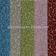 PU glitter leather mateiral with leopard design, Fashionable for lady's shoes, upholstery use