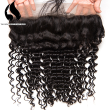 Black color Density 150% Remy Hair Deep Wave Lace Frontals 13*4 Mongolian Hair 360 lace frontal closure