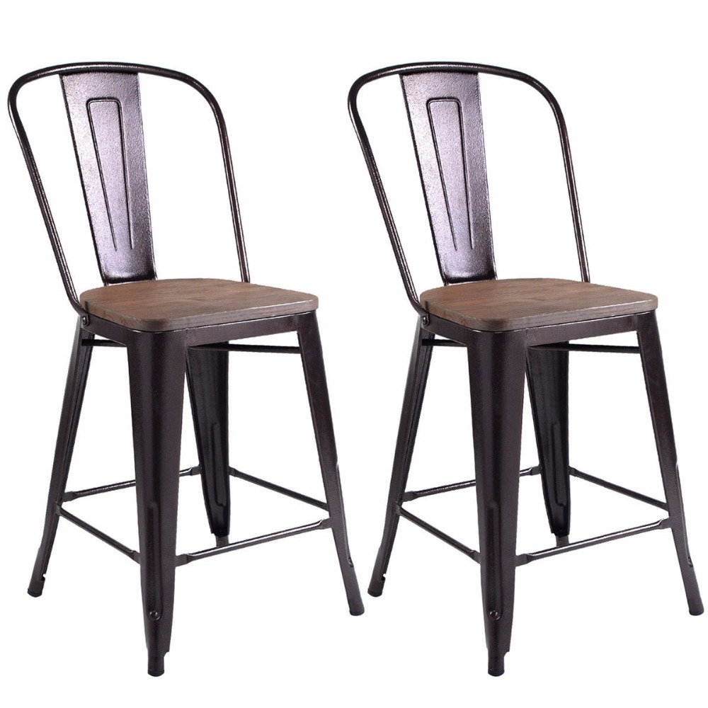 Cheap Rustic New simple design kitchen Metal Dining chair