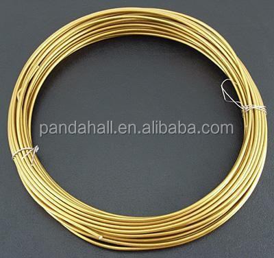 2mm 6m/roll Gold Plated Metal Beading Thick Aluminum Wire <strong>Scrap</strong>