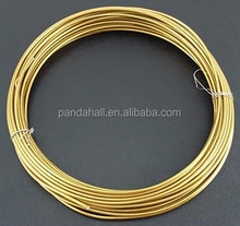 2mm 6m/roll Gold Plated Metal Beading Thick Aluminum Wire Scrap
