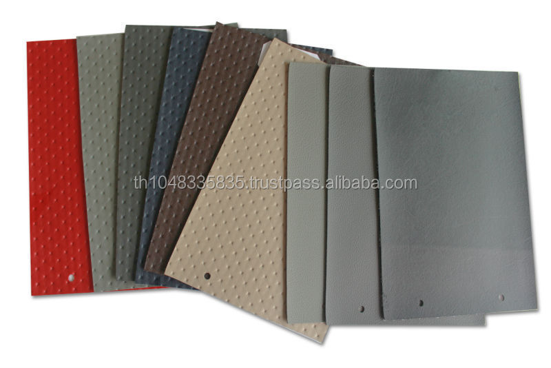 PVC synthetic leather with assorted colors and designs