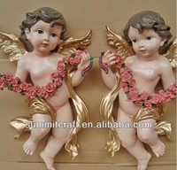 Europe angel wall decoration resin baby angel wall plaque