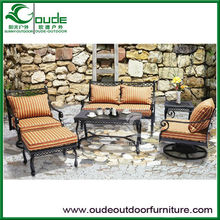 garden outdoor cast aluminium table and chairs sets single double sofa